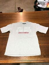 ABECROMBIE & FITCH - BRAND NEW GRAY SHORT-SLEEVE T-SHIRT - SIZE YOUTH SMALL
