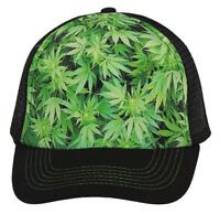 Marijuana Leaves Hollywood Trucker Mesh Hat