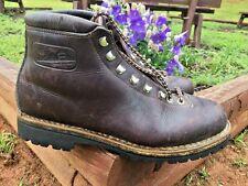 Vintage DIEMME ITALY ROCCIA Block Steel Toe Leather Boots Work Hiking Mens Sz 11