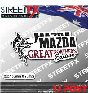 Great Northern Edition Sticker Twin Pack for Mazda 4x4 4WD Beer Ute Offroad