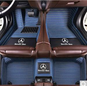 For Mercedes benz W204 W205 C200 C300 C350 C63AMG Car floor mats 2001-2019