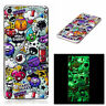 For Sony Smart Phones Cute Emoticon Luminous Thin Soft TPU Silicone Case Cover