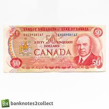 More details for canada: 1 x 50 canadian dollar banknote. dated 1975.