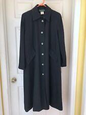 HARVE BENARD Long Winter coat Women's Size 12 Petite Lined Black Wool Blend