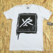 Young And Reckless White ' Y&R On Black Square' T-Shirt **NEW**