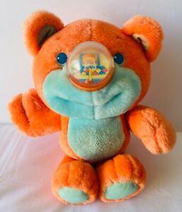 NOSY BEARS Playskool Orange Basketball Nose Soft Plush Toy VINTAGE 1987 28cm
