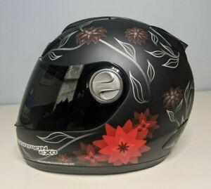 "SCORPION EXO 700 ""Black Dahlia"" Full Face Motorcycle Helmet & Soft Bag - Medium"