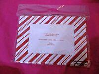 (8) Photo Greeting Cards & Envelopes 4x6 Photos Christmas red/white stripes NIP
