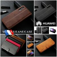Coque Housse Cuir Pu Premium Qualité Leather case Cover Huawei P20 & lite, pro