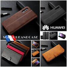 Coque Housse Premium Qualité Cuir PU Leather case Cover Huawei P20 & lite, pro