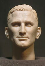 "CUSTOM  RESIN Kirk Douglas HEAD SCULPT. Action figures, 1/6 scale. 12"". V-50"