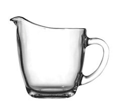 """Anchor Hocking 64191B 4"""" Glass Creamer with Handle"""