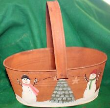 Ohio Wholesale Rusty Tin Basket - Christmas Decoration - Circa 1999  -- NEW!
