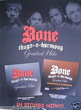"BONE THUGS N HARMONY ""GREATEST HITS"" U.S. PROMO POSTER - HIP HOP & RAP MASTERS!"