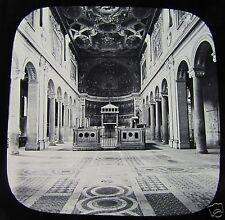 Glass Magic lantern slide ROME - THE CHURCH OF ST CLEMENT C1890 ITALY ROMA