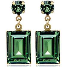 Ohrringe mit Kristalle von Swarovski® Gold Grün NOBEL SCHMUCK