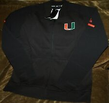 Miami Hurricanes bomber jacket! women's medium NEW with tags Adidas Climalite