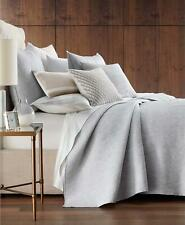 Hotel Collection Lateral Quilted Cotton Full / Queen Coverlet Grey $300