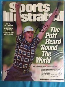 Justin Leonard Signed Sports Illustrated SI 10/4/99 PGA Golf Ryder Cup