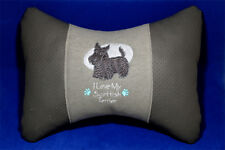 Embroidered car seat neck rest pillow - Scottish Terrier