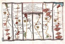 Antique map, The Road from Nottingham to Grimsby plate 078