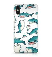 Blue Arctic Ocean Whale Shark Fish Sea Animal Painted Pattern Phone Case Cover