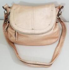 B. Makowsky Metallic Copper Leather Flap Top Crossbody Bag