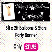 Personalised Photo Birthday Party Banners Posters Packs Any Event Age Name A002