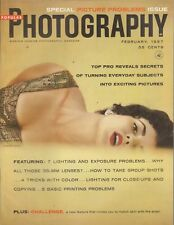 Popular Photography Magazine 1957 Picture Problems Issue Bolex H-16 - Sexy Lady