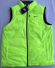 Nike Draft Vest 614690-010 Reversible Black Volt Puffer Snowboard Men's L new