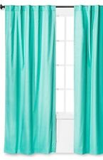 Pillowfort Green Cotton Polyester Twill Curtain Panel NWOT