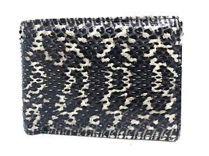 Genuine Cobra Snake Skin Leather Men's Bifold Wallet