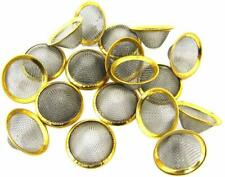 CONE SHAPED GAUZE MESH STEEL FILTER BONG PIPE SCREEN 15 / 20 mm BRASS RING SMALL