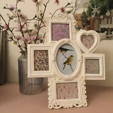 Vintage Chic Style Multi Photo Frame Antique Cream Victorian Picture Freestand