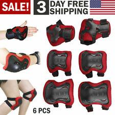6pcs Knee Elbow Pads Wrist Guards Adult Teen Skateboard Protective Gear Usa
