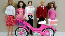 Vintage lot Bionic Woman Donnie Marie Brooke Ken and Barbie moped