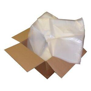 "CLEAR PLASTIC POLYTHENE BAG HEAVY DUTY 125MU Size: 30"" x 50"" Very Large Strong"