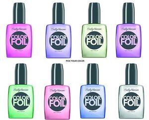 New Sally Hansen Color Foil Nail Polish - Assorted Shades - Pick Colors