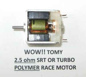 TOMY -2.5 OHM  POLYMER MAGNET - FASTEST 2.5 SRT or TURBO CAN MOTOR ON EBAY /Tyco