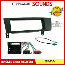 Single Din Stereo Fascia ISO Wiring Antenna Adaptor Fitting Kit For BMW 3 Series