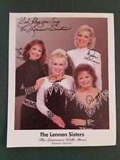 The Lennon Sisters-signed photo-COA