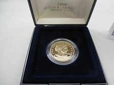 1999 SUSAN B. ANTHONY PROOF DOLLAR COIN AND CASE AND CERTIFICATE OF AUTHENTICITY