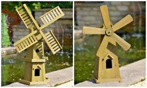 Traditional Wooden Windmill Garden Decoration Small Large Patio Ornament Decor