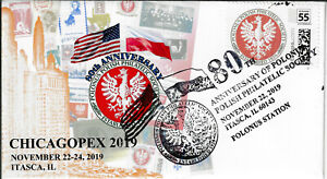 Polonus 80th Anniversary cachet cover, cancelled November 2019. Limited supply