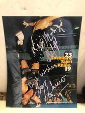 Yoshibiro Tajiri & Rhino Autograph