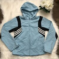 Vintage Adidas Full Zip Blue Climaproof Jacket Sz M Hooded Soft Shell Outdoor