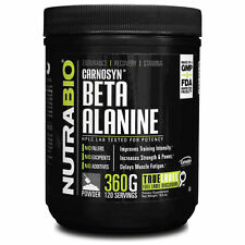 NutraBio Beta Alanine Carnosyn 800mg 360 gm Powder Endurance Recovery 180 srv