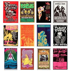 Cool Rock Band Posters, Concert Posters, Tour Posters, A5 A4, A3, A2