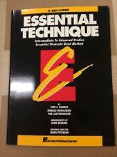Essential Technique, Bb Bass Clarinet, (Essential Elements Band Method)