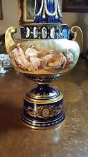 19th Century Royal Vienna Vase Middle Eastern Subject With Many Young Women